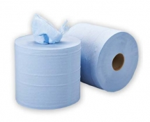 2ply Blue Embossed Centrefeed Roll (120m)