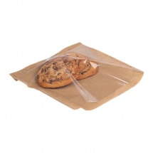 10 x 10inch / 25 x 25cm Brown Paper Film Fronted Bags