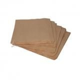 4 x 6 x 14inch Brown Paper Biodegradable Film Windowed Bags