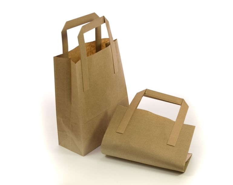 8.5 x 13 x 10inch Midi Brown Kraft Carrier Bags