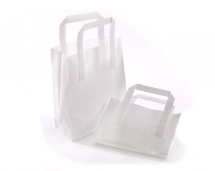 216 x 330 x 254mm / 8.5 x 13 x 10inch Midi White Kraft Carrier Bags