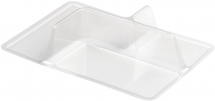 Clear Plastic 3 Cavity Curve Insert for Nibble Boxes