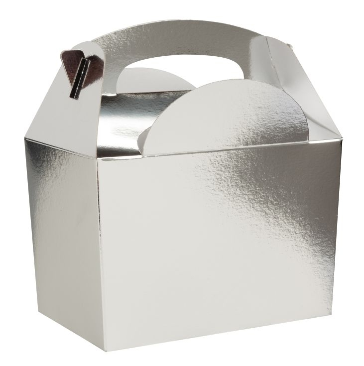 Party / Meal Boxes - Plain Silver