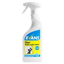 Evans Clear Glass & Stainless Steel Cleaner (750ml)