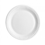 "9"" / 23cm Uncoated Snack Paper Plates"