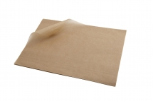 25 x 35cm Brown Greaseproof Paper Sheets
