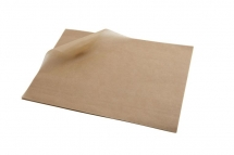 20 x 25cm Brown Greaseproof Paper Sheets