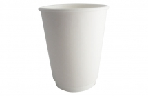12oz White Smooth Double Wall Cups