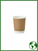 8oz Edenware® Compostable Smooth Double Walled Hot Cups