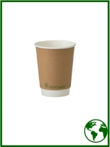 12oz Edenware® Compostable Smooth Double Walled Hot Cups