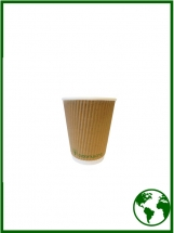 8oz Edenware® Ripple Compostable Hot Cups