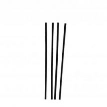 5.5inch / 140mm Black Plastic Sip Straws