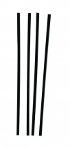 5.5inch / 140mm Black Plastic Straight Straws  4.3mm Bore