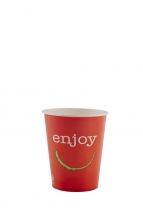 9oz 'Enjoy' Design Paper Cold Cups