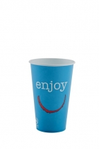 12oz 'Enjoy' Design Paper Cold Cups