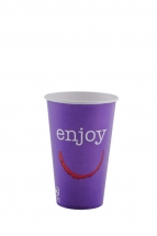 16oz 'Enjoy' Design Paper Cold Cups
