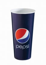 22oz 'Pepsi' Design Paper Cold Cups