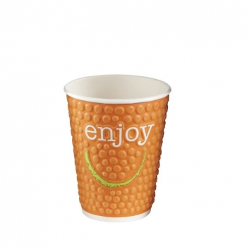 9oz / 0.25L 'Enjoy' Double Wall Bubble Cups