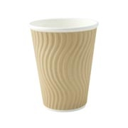 8/9oz 'Natural' Kraft Wave Ripple Cups