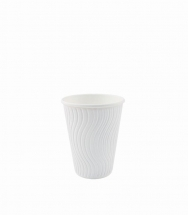 8/9oz White Wave Ripple Cups