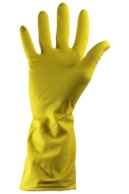 Yellow Rubber Gloves - Large